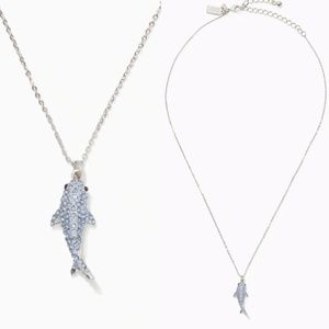 Kate Spade California Dreaming Pave Shark Necklace
